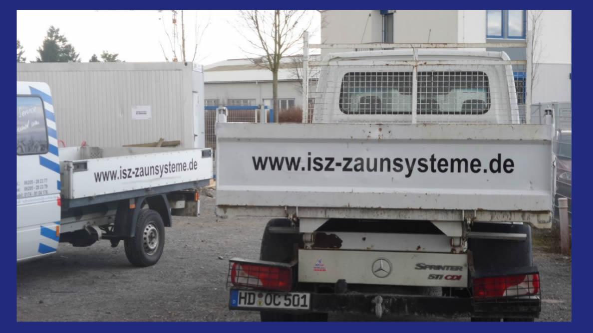 Gabionen, Zaunbau, Sichtschutzzäune, Torbau, ..: ISZ-Zaunsysteme